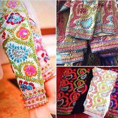 Party Outfit Casual Leggings Skirts Ideas For 2019 Pakistani Formal Dresses, Pakistani Fashion Casual, Pakistani Dress Design, Indian Fashion, Women's Fashion, Phulkari Embroidery, Embroidery Suits, Embroidery Fashion, Embroidery Stitches