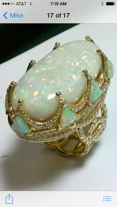 42 carat Australian opal ring.