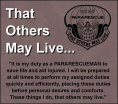 That others may live...Air Force Pararescue