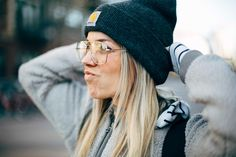 The Collaboration Blog: Casual Street Style #winterstyle #winterfashion #steeze #streetstyle Glasses - Urban Outfitters Hat - Carhartt