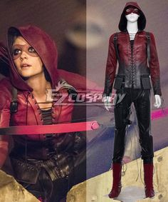 Pls email us if you need the costume, wig, shoes, weapon or other accessories of this character.  Email address: Ezcosplay@gmail.com DC Comics Green Arrow season 4 Red Arrow Thea Queen Cosplay Costume  - EMAV023