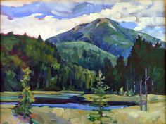 """""""Whiteface and Marsh,"""" 16X12, oil on canvasboard, by Carol Douglas"""