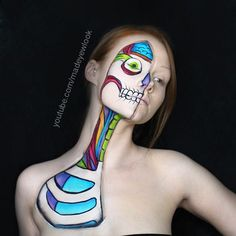 The #cartoon #anatomy #makeuptutorial is NOW LIVE on #youtube.com/madeyewlook  This look seriously got my creativity flowing again. I can't wait to paint my next character, and I literally just uploaded this one. #creativityiswhoiam