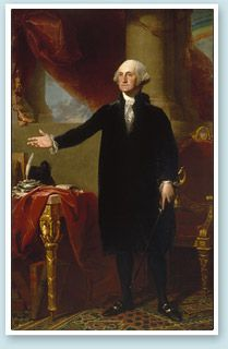 George Washington (The Lansdowne Portrait), 1796, oil on canvas, National Portrait