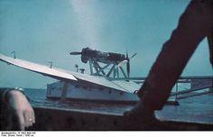 1943. Italienisches Doppelrumpf-Flugboot Savoia-Marchetti S-55 [der rumänischen Luftwaffe ?]