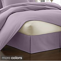 @Overstock - Add the finishing touch to the perfect bedroom with this elegant tailored poplin bed skirt. Available in luscious shades of lavender or silver, this beautiful pleated bed skirt will add that last little dash of sophistication youve been looking for.http://www.overstock.com/Bedding-Bath/Poplin-Tailored-Pleated-Bedskirt/6532017/product.html?CID=214117 $27.49