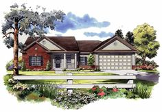 This Colonial House Plan includes 3 bedrooms / 2 baths in 1700 sq ft of living space.  Its open floorplan layout is flexible and is ideal for your growing family.  Best of all, its designed to be affordable to build and includes all of the most popular features you're looking for in your next home design.    #houseplan #dreamhome #HPG-1700B #HousePlanGallery #houseplans #homeplans Small House Floor Plans, Simple House Plans, Garage House Plans, New House Plans, Gas Fireplace Logs, Gas Logs, Brick Siding, Open Living Area, Residential Construction
