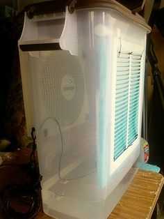 cooling your tent or van - Page 57 - ePlaya Camping Toilet, Diy Camping, Camping Gear, Camping Gadgets, Tent Air Conditioner, Homemade Air Conditioner, Diy Swamp Cooler, Diy Cooler, Homemade Lanterns