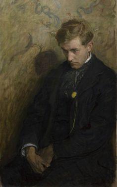 """snowce: """" Wojciech Weiss, Melancholik (Totenmesse, Portret Antoniego Procajlowicza), 1898 """""""