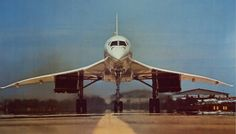 BAC Concorde head on view during takeoff