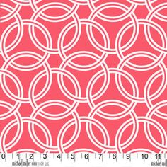 Trenna Travis - Bekko - Swirl in Coral - for Michael Miller Fabrics