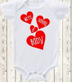 Valentine's Day Pregnancy Announcement Idea by The1stYearBaby #baby #newborn #announcement #etsy #love #handmade #grammy #grandmatobe #vday #valentinesday