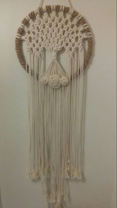 Macrame Tree of Life Macrame Dreamcatcher Wall Decor Home – Top Of The World Mens Beaded Necklaces, Macrame Chairs, Loom Knitting Projects, Macrame Design, Burlap Flowers, Macrame Projects, Macrame Patterns, Macrame Knots, Cool Diy Projects