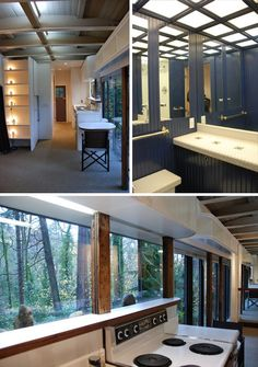 260 sq ft converted caboose at mercer island in washington.