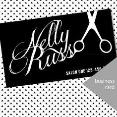 DIY modern stylist business card