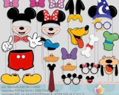 SALE Limited Time Mouse Party Photo Booth Props for mouse Theme Mickey, Mickey Party, Mickey Mouse Clubhouse Party, Mickey Mouse Birthday, Anna Et Elsa, Pig Party, Troll Party, Skate Party, Troll Dolls