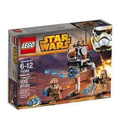 Support the clone army at the Battle of Geonosis with the LEGO Star Wars Geonosis Troopers battle pack! Mount the Clone Troopers on the walker and lay down covering fire for the Airborne Clone Trooper...