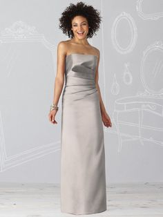 If you are pleased with glamour and perfection, then this Dessy After Six 6619 Bridesmaid dress is the gown you want for your bridal party. The Duchess satin fashion has a strapless bodice and slim floor length skirt. #timelesstreasure