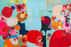 Bright As Quiet - a painting by Claire Desjardins. Love this!  This painting just makes me happy when I look at it!!