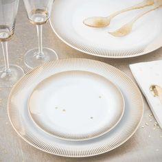 Assiette plate en porcelaine D 27 cm VERSAILLES