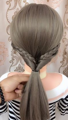 "easy braids hairstyles videos, Easy hairstyles, "" braids hairstyles For more videos, please click our website Source by Little Girl Hairstyles, Braided Hairstyles, Easy Hairstyle, Funky Hairstyles, Glamorous Hairstyles, Amazing Hairstyles, Hair Videos, Hairstyles Videos, Hairstyles 2018"
