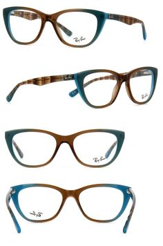 edfc14c1370 Eyeglass Frames  New Authentic Ray- Ban Eyeglasses Rb5322 5490 Gradient  Brown On Azure 51-18-140 -  BUY IT NOW ONLY   59.99 on eBay!