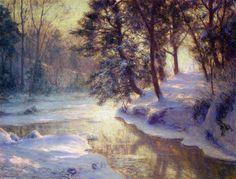 Le flux lumineux, huile sur toile de Walter Launt Palmer (1854-1932, United States)