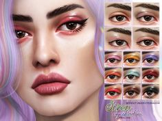 The Sims 4 Siren Eyeshadow The Sims 4 Pack, Sims 4 Cc Packs, Sims 4 Game Mods, Sims Mods, Sims 4 Cas, Sims Cc, The Sims 4 Skin, Sims 4 Cc Eyes, The Sims 4 Cabelos