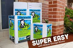 Looking for a box to store your stuff that's easy, cheap and convenient? Macy's Mobile Storage Boxes can deliver them right to your doorstep. Check this out! Self Storage, Storage Boxes, Easy Storage, Mobile Storage, Business Storage, Blanket Storage, Packing Supplies, Sydney, Super Easy