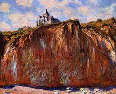 L'église de Varengeville / Claude Oscar Monet - 1882