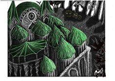 illustration_wonder_city_grattage_scratchboard