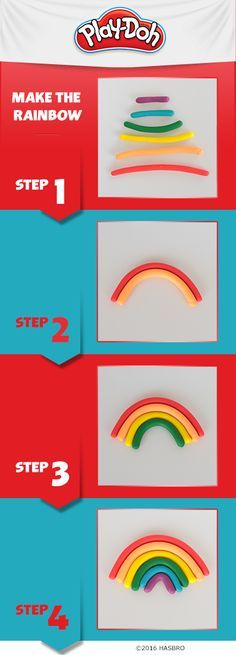 Have your kids learn about the colors spectrum by using Play-Doh compound to create a rainbow! Add some clouds and then have them tell you the colors they used. Getting ready for school to start? Grab some Play-Doh compound here.