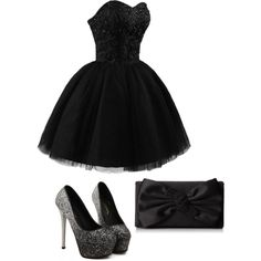 Midnight Black~ by bellab1213 on Polyvore featuring polyvore, fashion, style and Nina