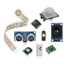 This is a sensor sampler pack that was put together to allow for the most versatile use of different sensors. The sampler includes the most popular sensors that Parallax offers, including the PING))), PIR, and the multi-axis sensors; which can be used together or independently to create an elaborate project.
