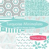 Turquoise Minimalista Fat Quarter BundleAGF In-House Studios for Art Gallery Fabrics