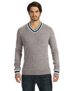 Alternative - 09594EC Men's V-Neck Sweatshirt #alternativefashion #menssweatshirt