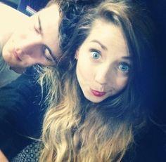 Youtubers- Alfie (left) Zoella (right)