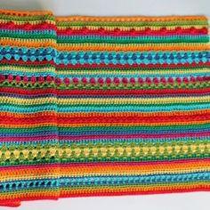 Crochet Along Regenbogen Babydecke Teil 5