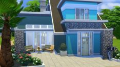 Totally Sims: Turquoise Family Villa • Sims 4 Downloads