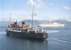 Lochfyne and Empress of England on the Clyde. Ferry Boat, Paddle Boat, Seaside Resort, Boat Plans, Model Ships, Sailing Ships, Scotland, Halcyon Days, Photos