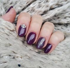#purple #nails #nailstyle