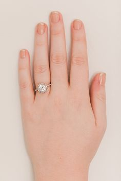 Every engagement ring has a perfect manicure pairing...