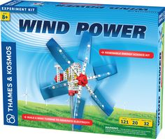Renewable Energy Science Kit - Build a working wind turbine - Harness mechanical energy to lift weights - Generate electricity to light an LED and charge a battery Build a working wind turbine to harn