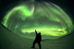 Ethereal Aurora Hovers Over Northern Quebec