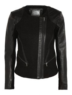 Line - Clifton Leather-Panelled Wool Jacket