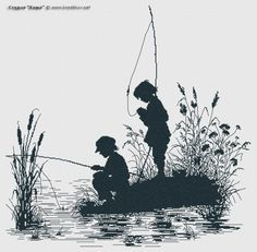 "Scheme ""Fishermen"" | cross-stitch from the studio ""Kosh"""
