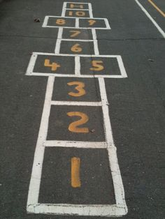 How can you be a kid and NOT play this hopscotch