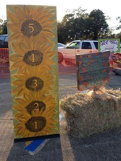 Fall Carnival Sunflower Height Ruler - FBC Tallulah, LA - Trunk or Treat Diy Scarecrow Costume, Height Ruler, Fall Carnival, Trunk Or Treat, Trunks, Texture, Crafts, Drift Wood, Surface Finish