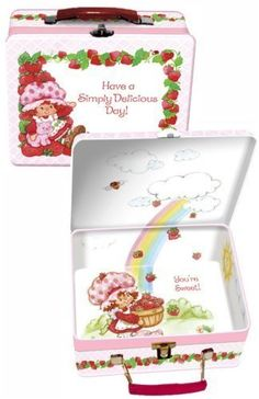 Strawberry Shortcake Tin Lunch Box:Amazon:Toys & Games