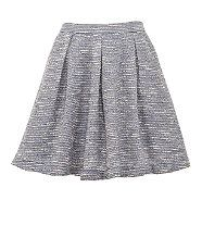 Blue (Blue) Blue Boucle Skater Skirt | 273724840 | New Look